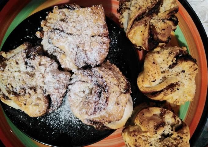 Muffin sfoglia alla Nutella