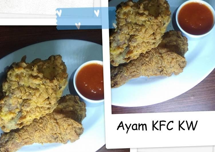 Langkah Mudah untuk Menyajikan 58. Ayam KFC KW tetep creamy Mudah