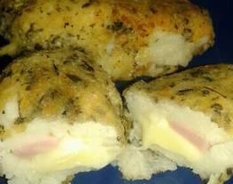 Croquetas de papa rellenas con jamón y queso ?