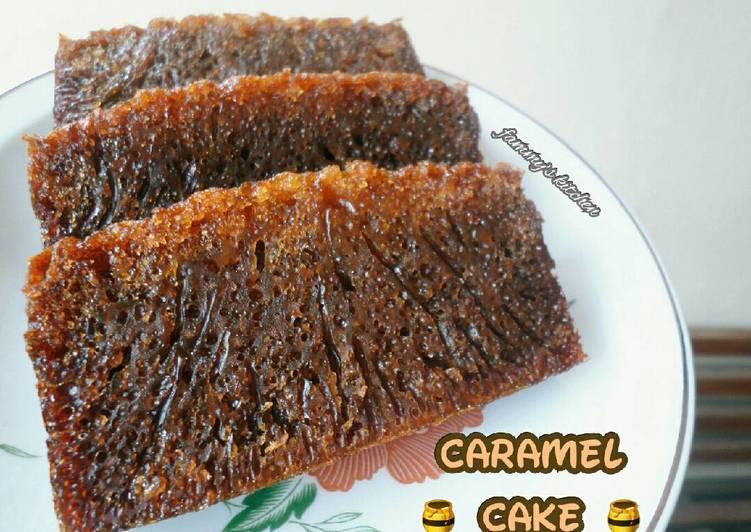 cara menyajikan Caramel Cake a.k.a Sarang Semut + Tips - Sajian Dapur Bunda
