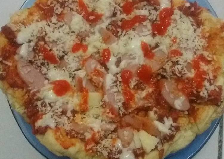 Pizza ala rumah gk ada open pake teflon ajj..