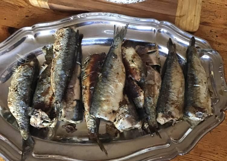 Sardines grillées farcies