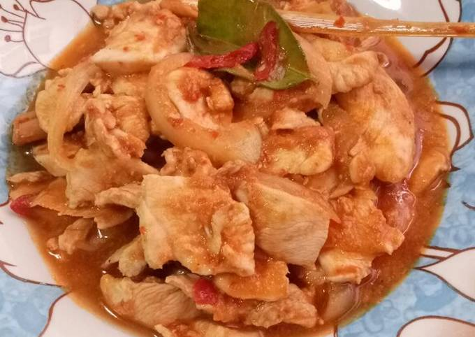 Ayam Saos Padang - menu diet