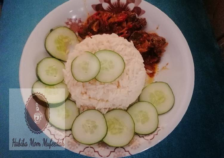 How to Make Appetizing White rice with kidney sous