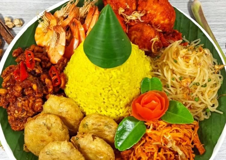 Nasi kuning gurih, pulen dan wangi 🏆🏆🏆