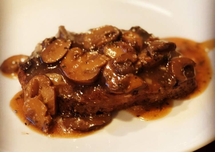 Recipe: Delicious Mushroom Gravy Sauce for Steak