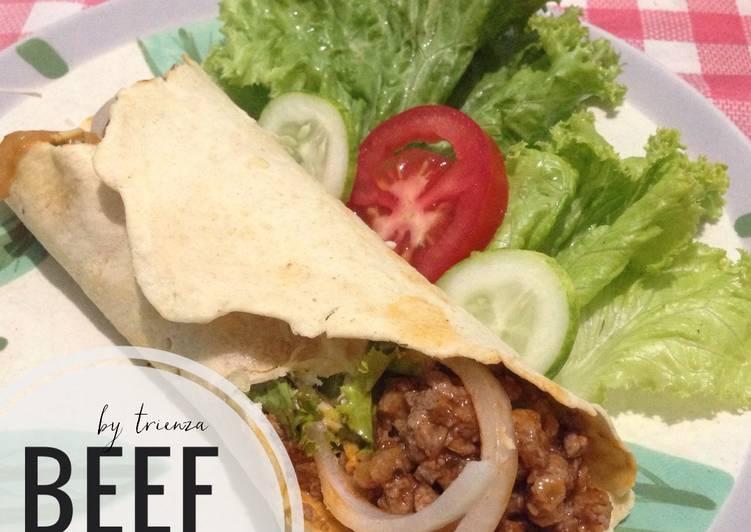 Resep Beef Burrito Oleh Trienza Ririn Cookpad