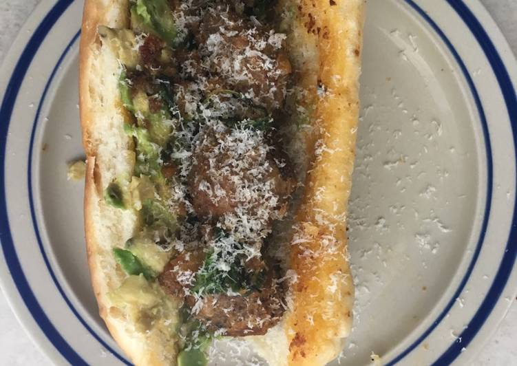 How to Make Top-Rated Leftover meatball sub with avocado