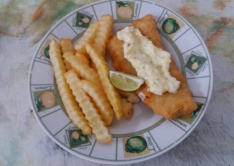 Easy Fish n' Chips (no soda)