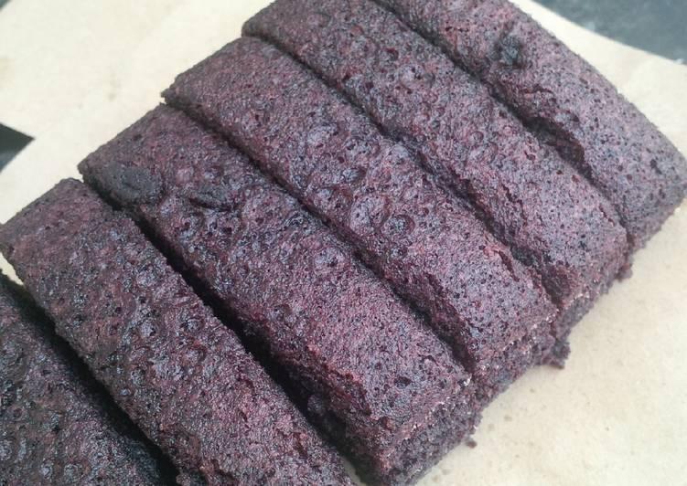 cara memasak Bolu ketan hitam kukus - Sajian Dapur Bunda