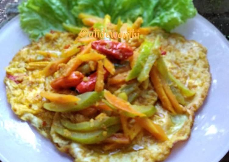 *telur ceplok acar kuning* - cookandrecipe.com