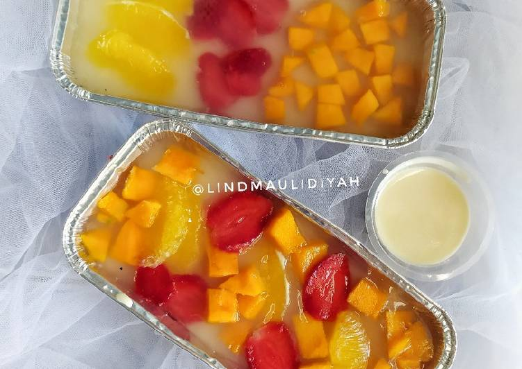 Puding Buah with Fla