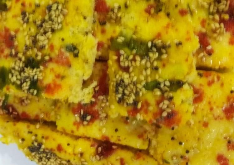 Grandmother's Dinner Easy Diet Perfect Khatta Yellow Dhokla