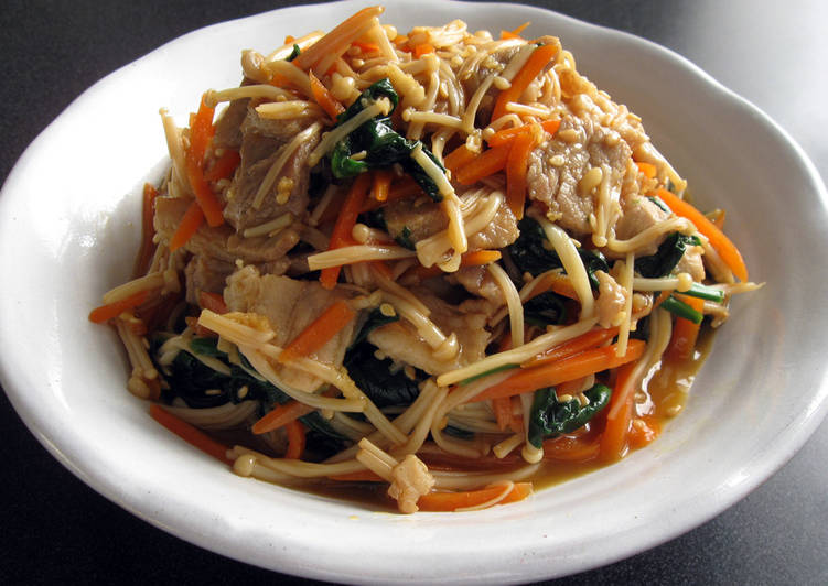 Foods That Can Make Your Mood Better 'Ponzu' Stir-fried Pork, Enoki & Vegetables