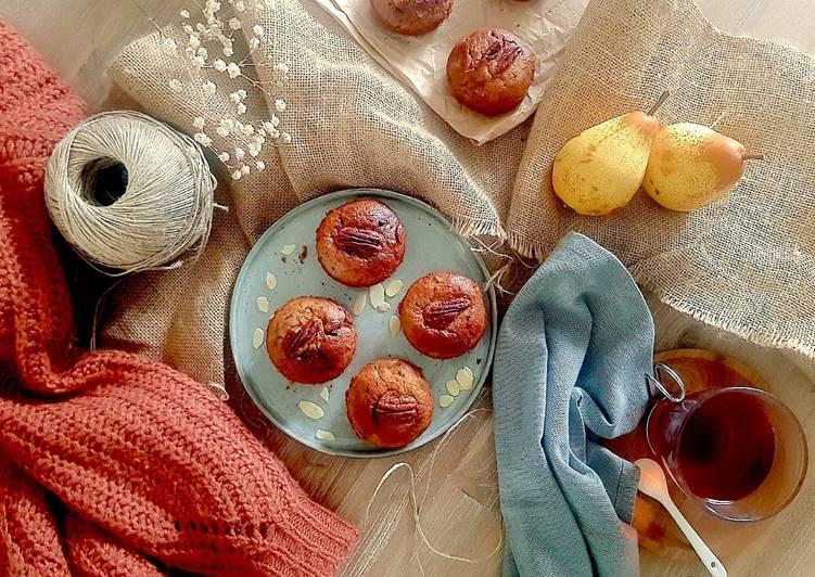 Petits gâteaux Poire, amande et chocolat