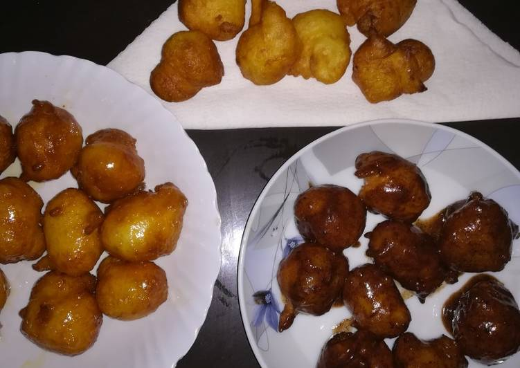 Simple Way to Prepare Homemade Two-ingredient no yeast fried donuts