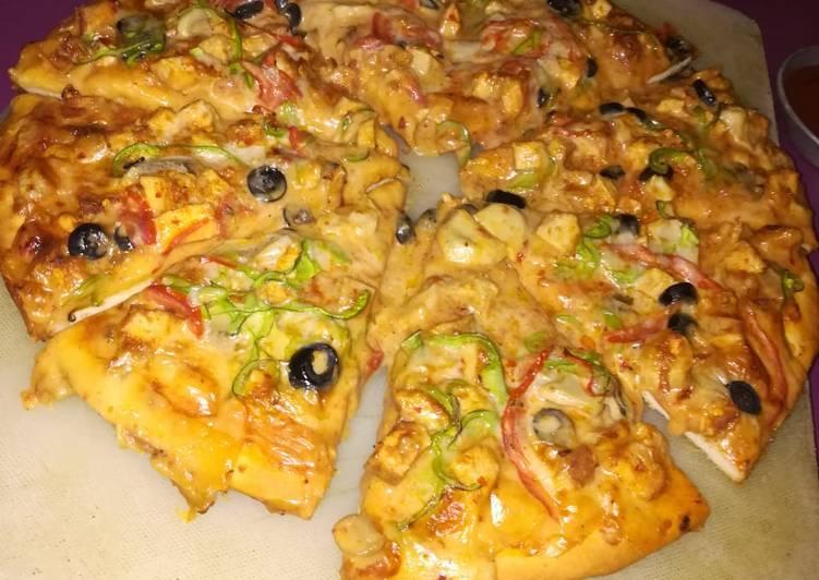 10 Minute Easiest Way to Make Autumn Chicken Fajita Pizza