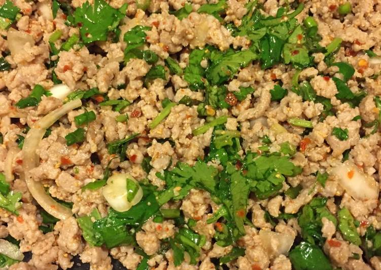 Recipe of Quick Larb with Sticky Rice