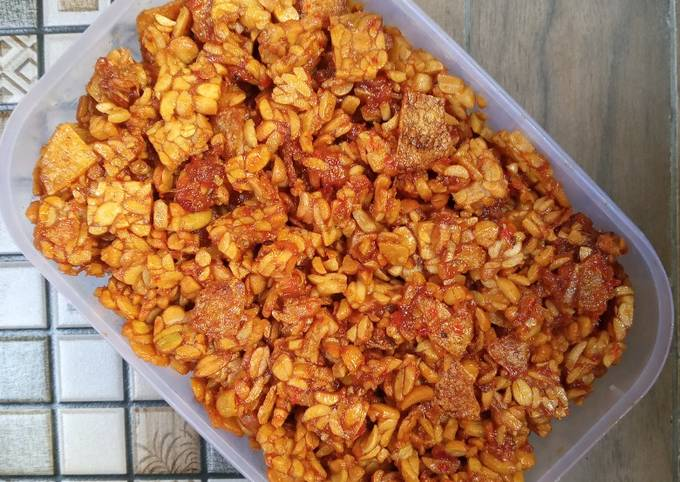 sambal goreng kering tempe dan kentang - resepenakbgt.com