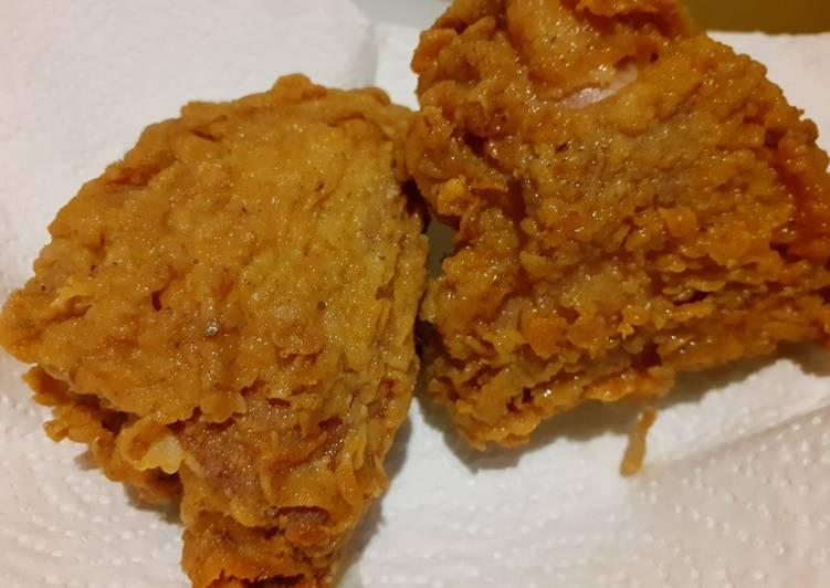 47. Ayam Goreng Krispi KFC (kriting dan anti gagal)