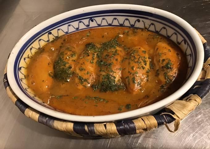 Quenelles au four parfumées saumon sauce homard