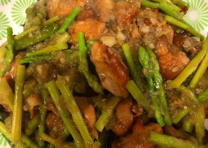 Ayam Masak Halia beserta Asparagus