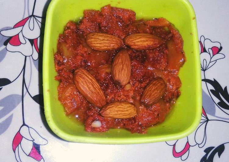Apple peels halwa