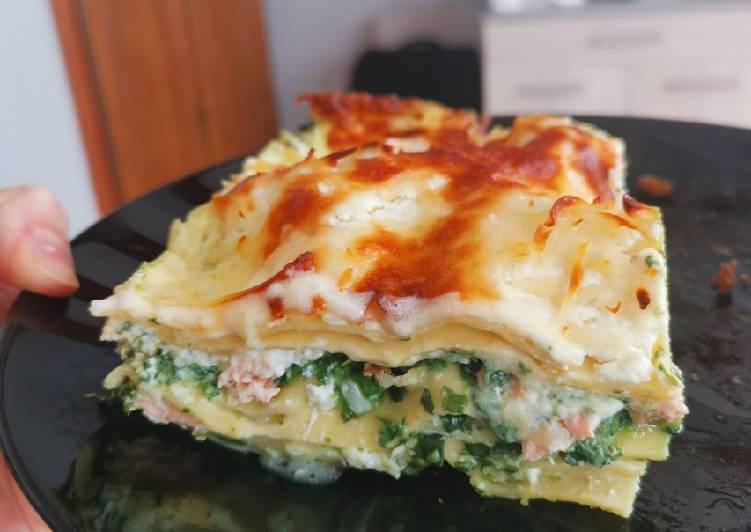 Lasagnes saumon ricotta épinards