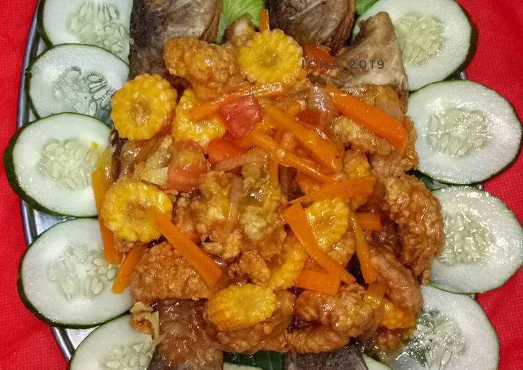 Resep Kakap goreng tepung saus asam manis Yang Gampang Endes