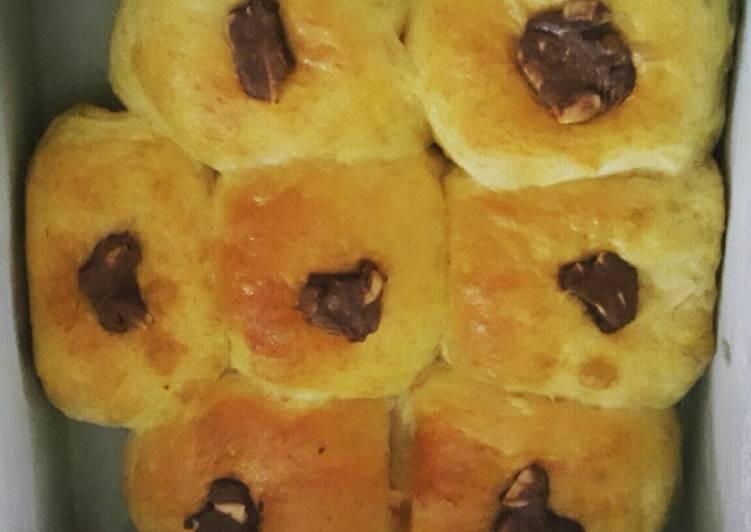 Resep Roti keju cokelat super empuk request suami Terbaik