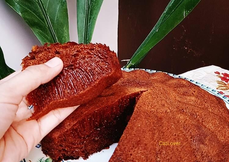 resep menyajikan Bolu Karamel Kayu manis - Sajian Dapur Bunda