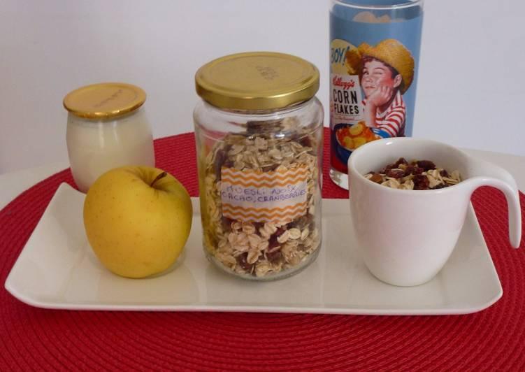 Muesli Cranneberries/Noix et Eclats de cacao
