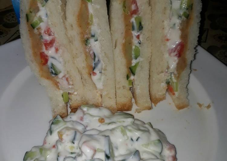 Easiest Way to Cook Yummy Club Sandwich❤