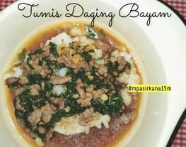 MPASI - Tumis Daging Bayam (mpasi 15 bulan)
