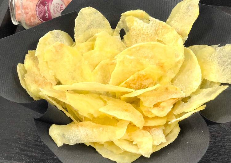 Chips sans huile au microonde