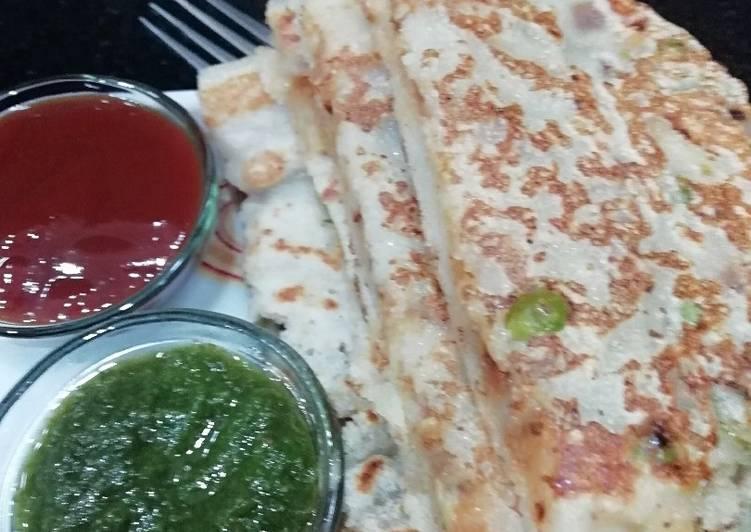 Stuffed Rava Pancake
