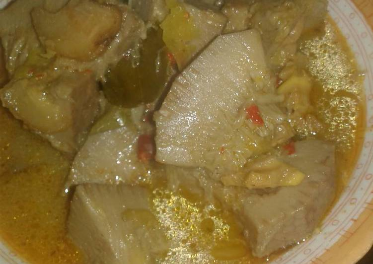 Sayur tewel n kikil sapi pedes banget - cookandrecipe.com