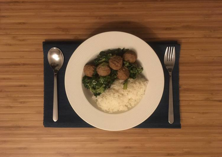 Swedish meatballs with leeks bento 🍱