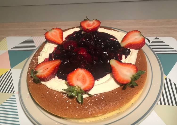 Berries Cotton cheesecake - gluten free