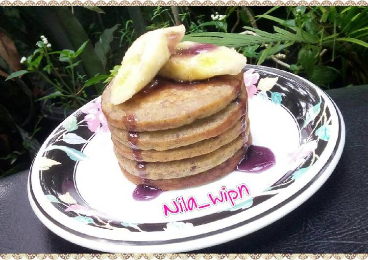 Resep Pancake Pisang Oatmeal Top