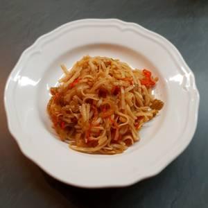 Fideos de Arroz con verduras (Pad thai de verduras)