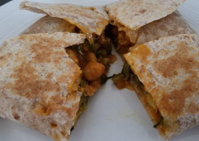 Trinidad inspired vegetarian roti