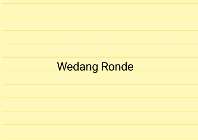 Wedang Ronde (Our Kitchen Recipes)