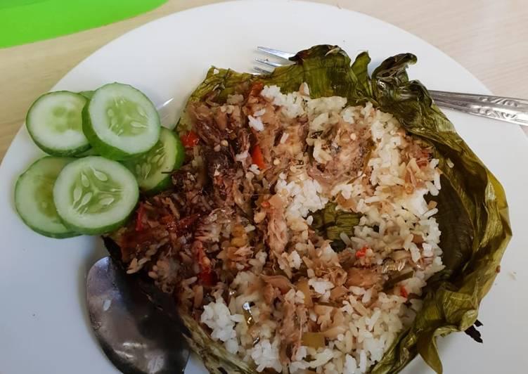 Nasi Bakar IKAN KEMBUNG SAMBAL MATAH