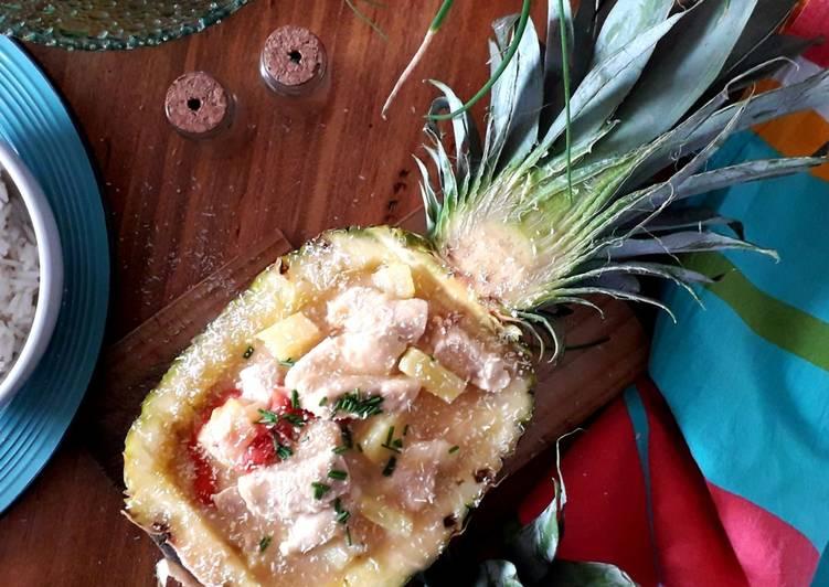 Ricetta Bocconcini di pollo all'ananas e latte di cocco