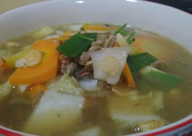 Sop daging kambing simpel tanpa presto