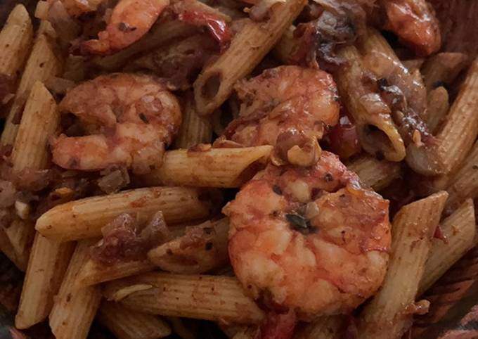 Chili prawn pasta