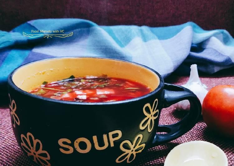 Recipe of Award-winning Lemon Coriander Beetroot Soup