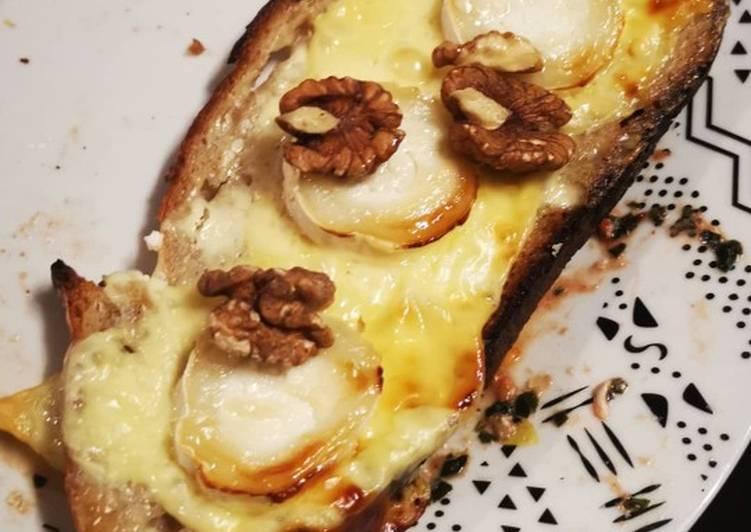 La Meilleur Recette De Tartines chèvre miel noix