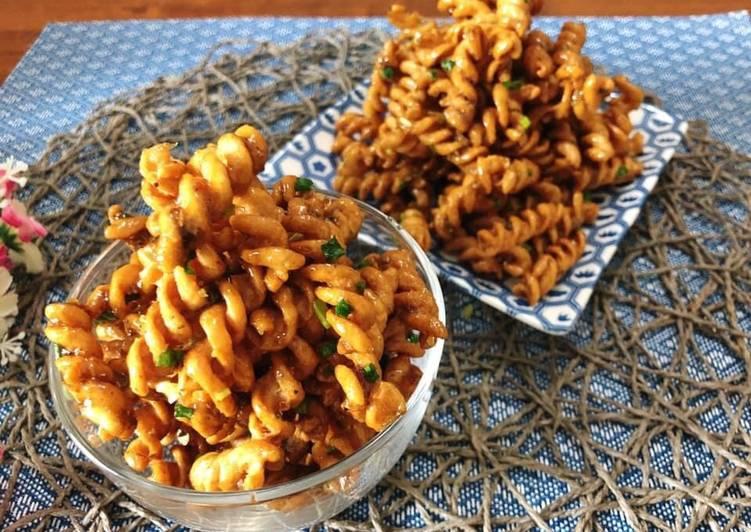 🧑🏽🍳🧑🏼🍳 Pasta Crackers Recipe • Crispy Pasta Snack• Thai Flavour • Krob Kem |ThaiChef food